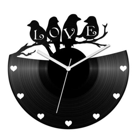 Szerelmes madaras bakelit óra