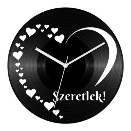 Szívecskés - szerelmes 2 bakelit óra