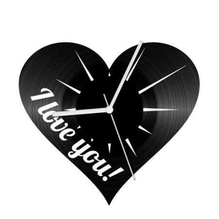 Szerelem szív 1 bakelit óra
