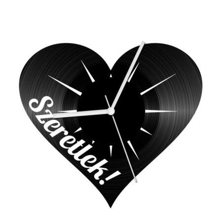 Szerelem szív 2 bakelit óra