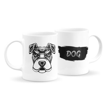 Állatfejes bögre - kutya 4