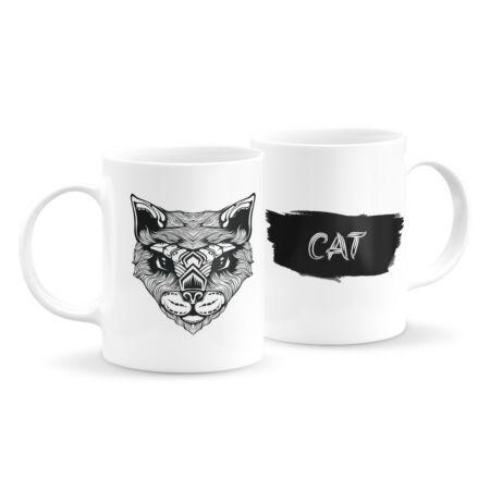 Állatfejes bögre - macska 1