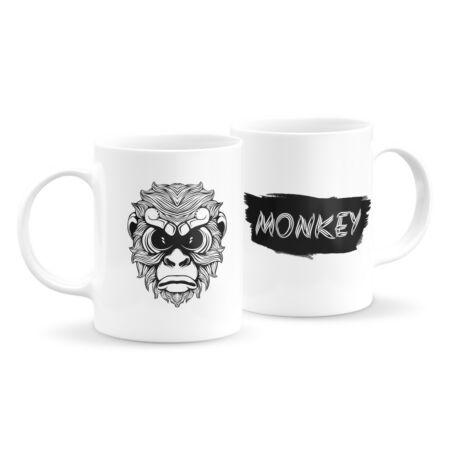 Állatfejes bögre - majom 2