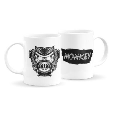 Állatfejes bögre - majom 4