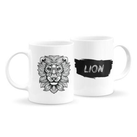 Állatfejes bögre - oroszlán 2