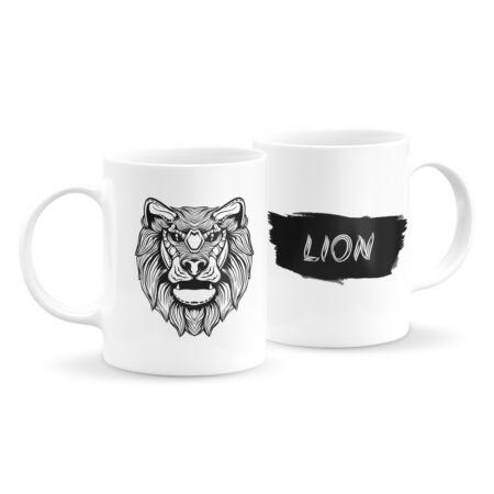 Állatfejes bögre - oroszlán 3