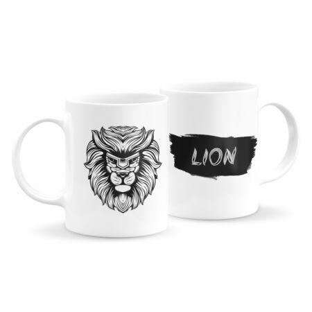 Állatfejes bögre - oroszlán 4