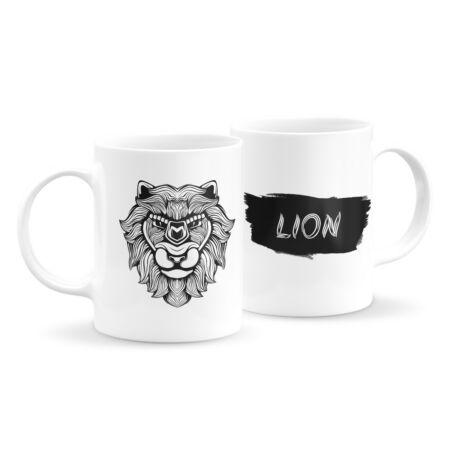 Állatfejes bögre - oroszlán 5