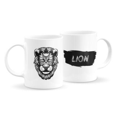 Állatfejes bögre - oroszlán 6
