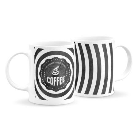 Black and white kávés bögre 2