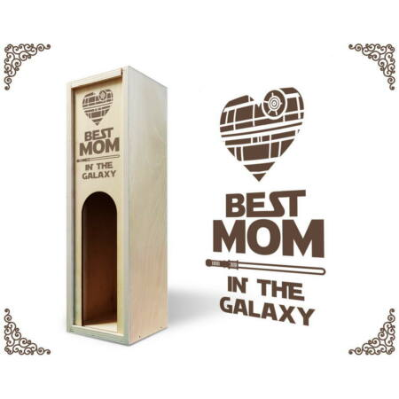 A galaxis legjobb anyukája bortartó doboz