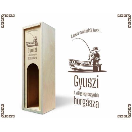 Horgász bortartó doboz
