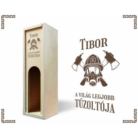 Tűzoltó bortartó doboz