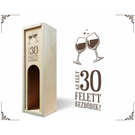 Születésnap 13 bortartó doboz