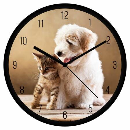 Cica és kutyus 3 falióra