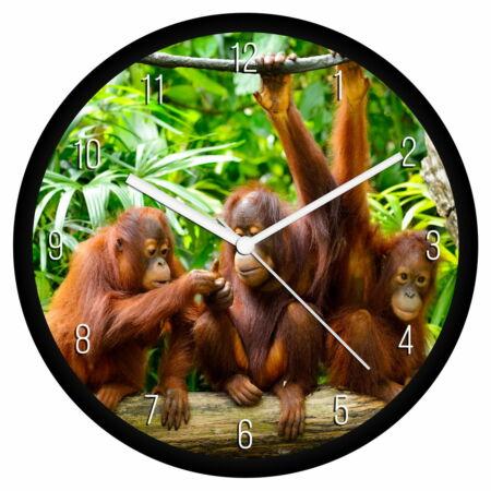 Orángutánok falióra