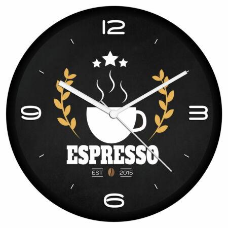 Kávé logós falióra 2