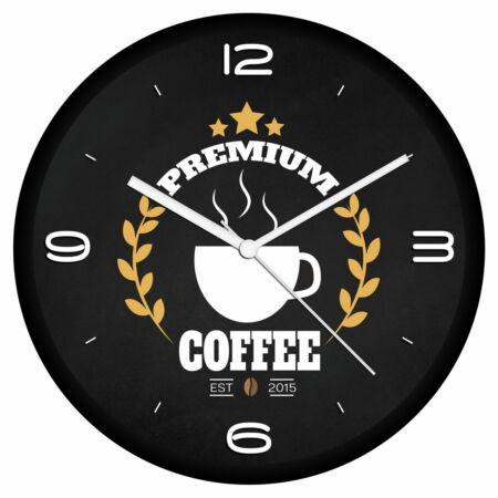 Kávé logós falióra 4