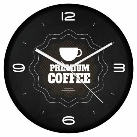 Kávé logós falióra 5