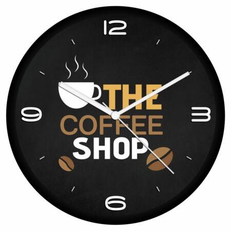 Kávé logós falióra 7