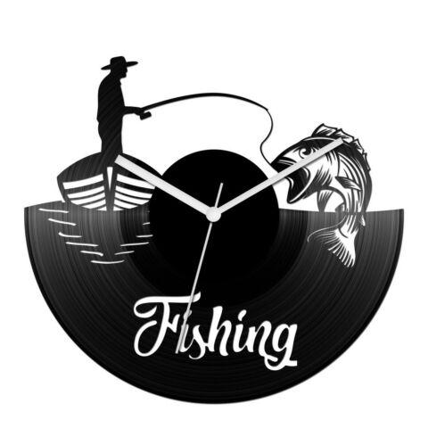 Horgászos bakelit óra