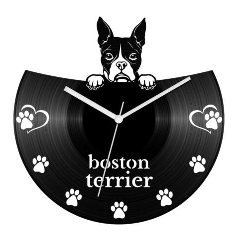 Boston terrier bakelit óra