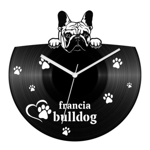 Francia bulldog bakelit óra
