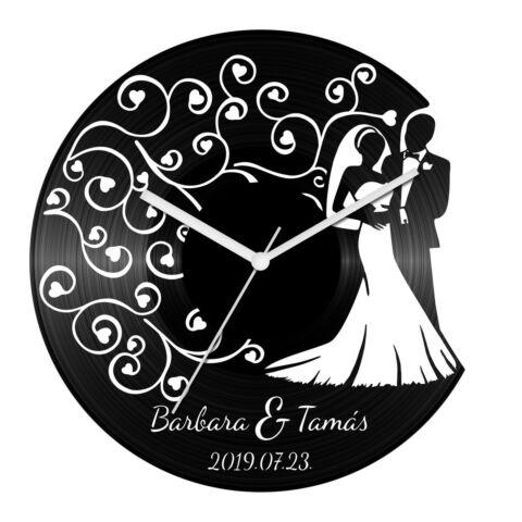 Esküvő 2 bakelit óra