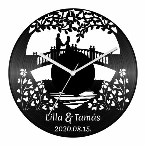Esküvő XIII bakelit óra