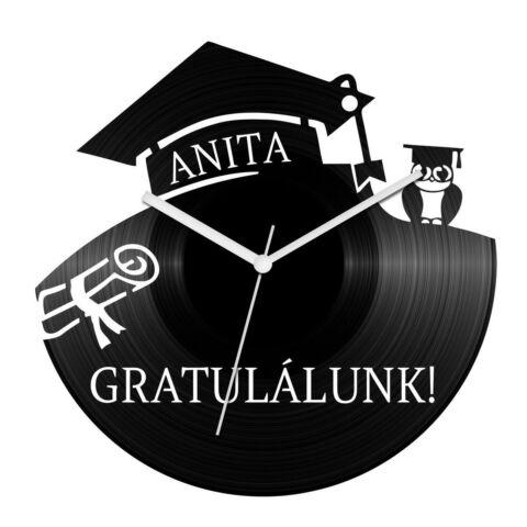 Diplomaosztó bakelit óra