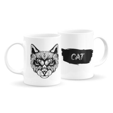 Állatfejes bögre - macska 3