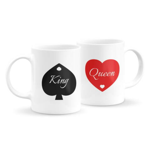 King and Queen páros bögre