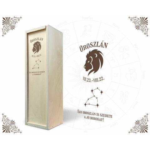 Oroszlán csillagjegyes bortartó doboz