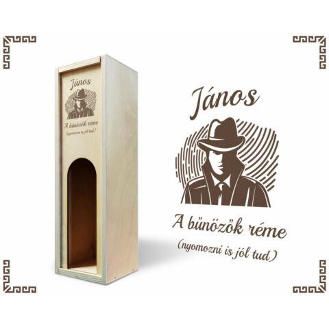 Nyomozó bortartó doboz