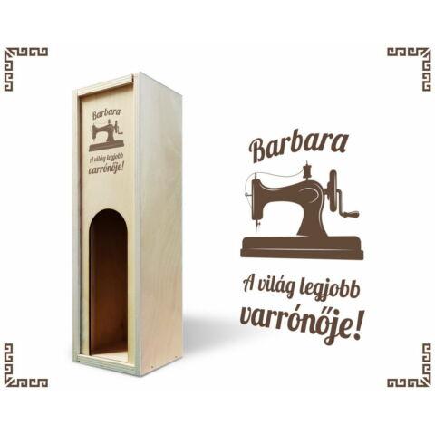 Varrónő bortartó doboz