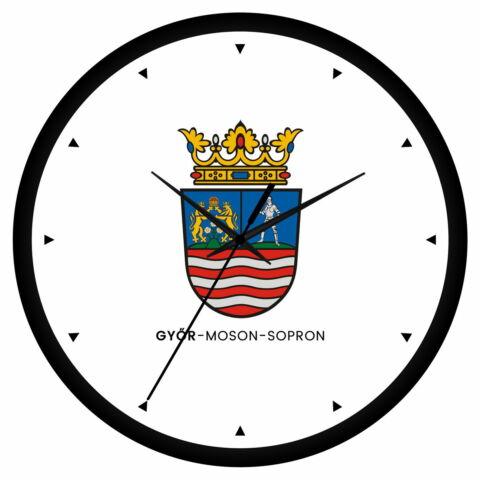 Győr-Moson-Sopron megye címeres falióra - órás