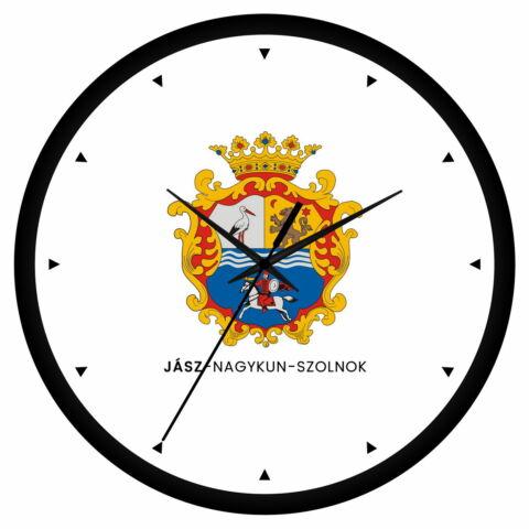 Jász-Nagykun-Szolnok megye címeres falióra - órás