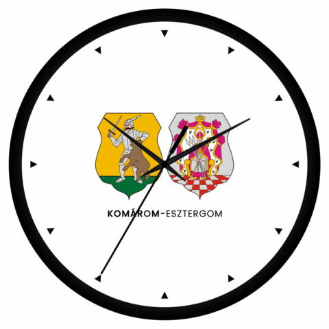 Komárom-Esztergom megye címeres falióra - órás