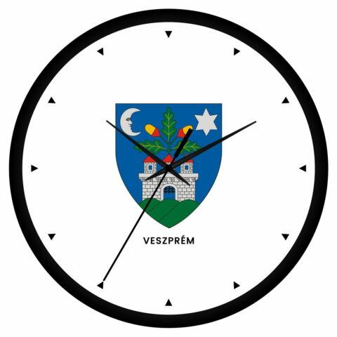 Veszprém megye címeres falióra - órás